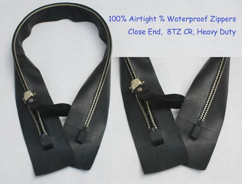 gastight zippers for dry suit